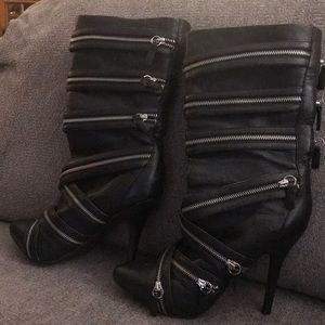 Zigi girl black leather boots